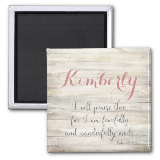 Fearfully & Wonderfully Made - Ps. 139:14 Square Magnet
