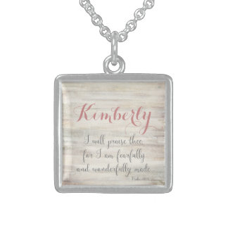 Fearfully & Wonderfully Made - Ps. 139:14 Square Pendant Necklace