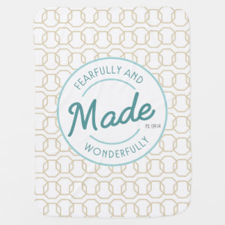 Fearfully & Wonderfully Made Vintage Stamp Baby Blankets