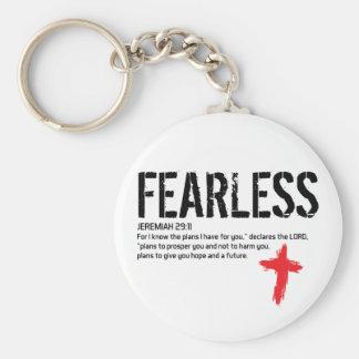 FEARLESS-JEREMIAH 29:11 BASIC ROUND BUTTON KEY RING
