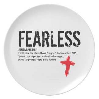 FEARLESS-JEREMIAH 29:11 DINNER PLATES