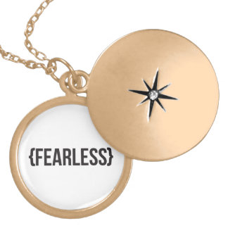 Fearless - You Choose Background Color Pendants