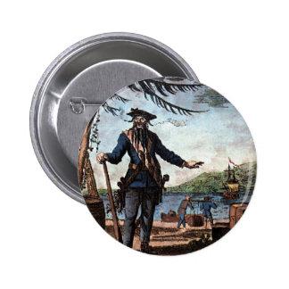 Fearsome Pirate Blackbeard! 6 Cm Round Badge