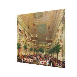 Feast at the Tuileries to Celebrate the Canvas Print