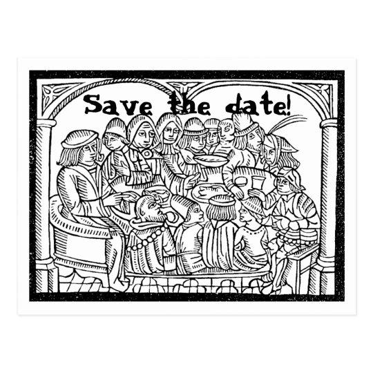 Feast - customisable save the date postcard