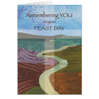 Feast Day Journey of Life Greeting Card