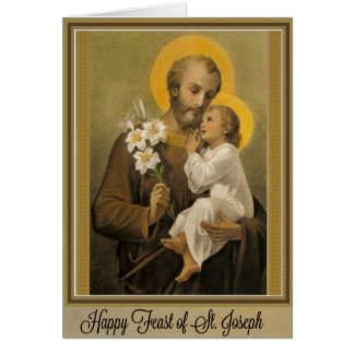 Feast Day of St. Joseph Card March 19