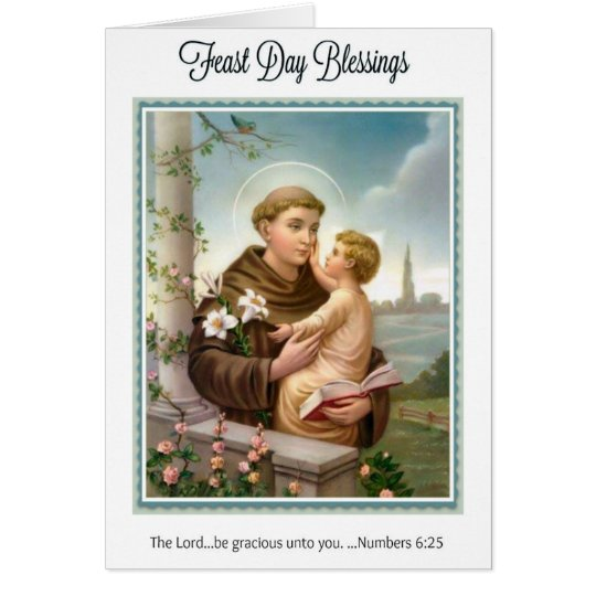 Feast Day St. Anthony of Padua Child Jesus