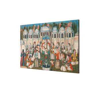 Feast for the Valide Sultana Stretched Canvas Print