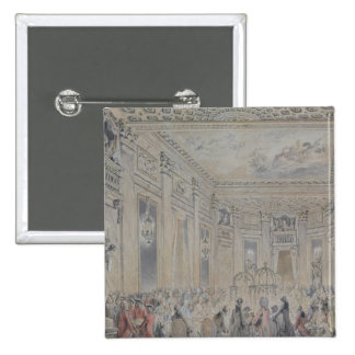 Feast given by Madame du Barry  for Louis XV 15 Cm Square Badge