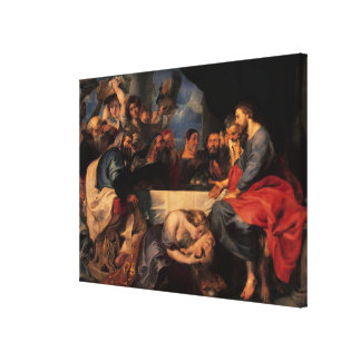 Feast in the house of Simon the Pharisee, c.1620 Gallery Wrap Canvas