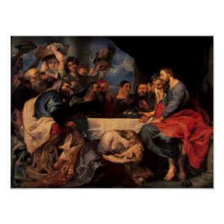 Feast in the house of Simon the Pharisee, c.1620 Posters