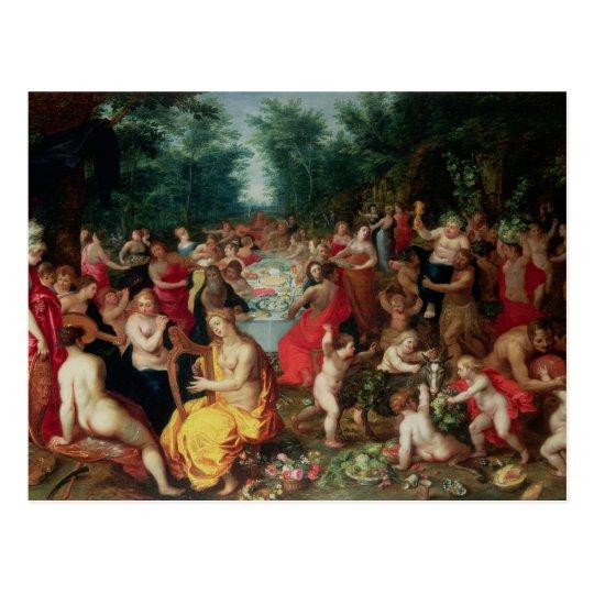Feast of the Gods Postcard