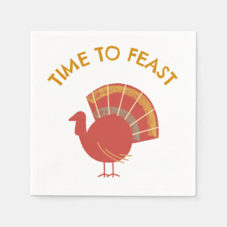 Feast On This Turkey Celebrations Disposable Napkin