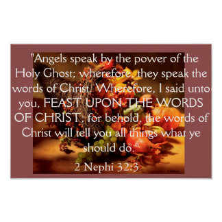 Feast Upon the Words of Christ Posters