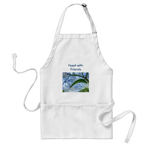 Feast with Friends aprons Holidays Blue Hydrangeas