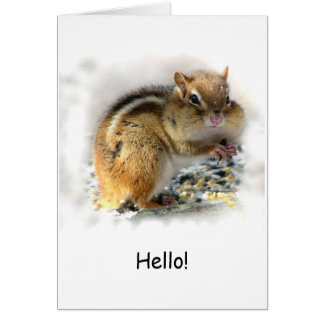 Feasting Chipmunk Card
