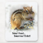 Feasting Chipmunk Mouse Pads