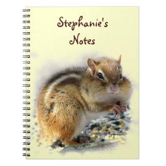 Feasting Chipmunk Note Book