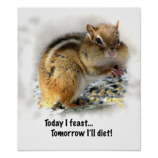 Feasting Chipmunk Poster
