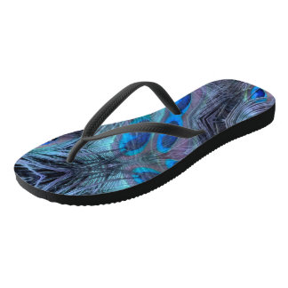 Feather Abstract Flip Flops