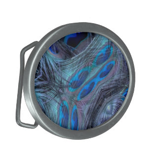 Feather Abstract Oval Belt Buckles