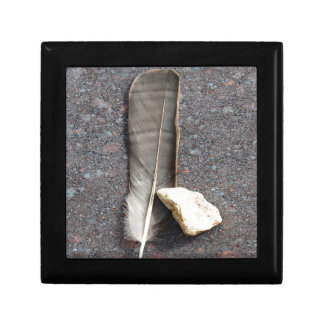 Feather and Stone Gift Box