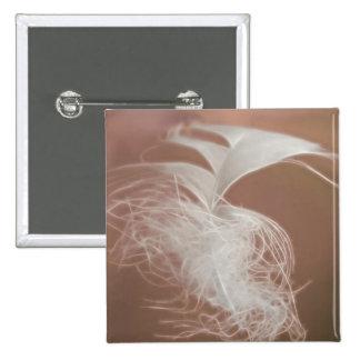 Feather Art 15 Cm Square Badge