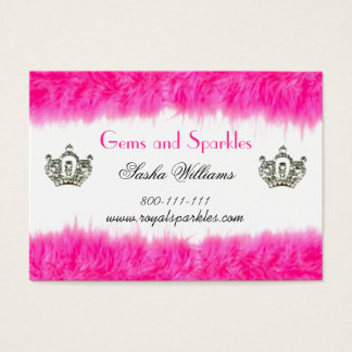 Feather Boa Diva Business Cards