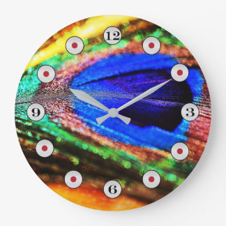 Feather by Shirley Taylor Large Clock