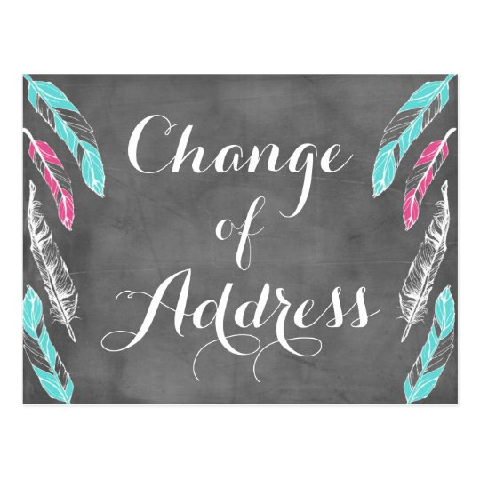 Feather Change of Address Postcard