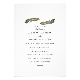 Feather Duo | Watercolor Wedding Invite
