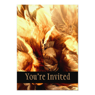 "Feather Duster Close Up 5"" X 7"" Invitation Card"