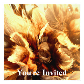"Feather Duster Close Up 5.25"" Square Invitation Card"