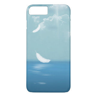 feather floating over ocean iPhone 7 plus case