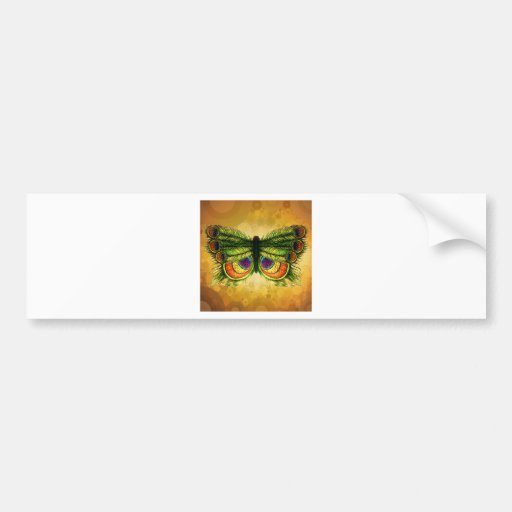 Feather fly bumper sticker