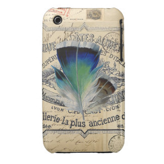Feather French Postcard Case iPhone 3 Case-Mate Case