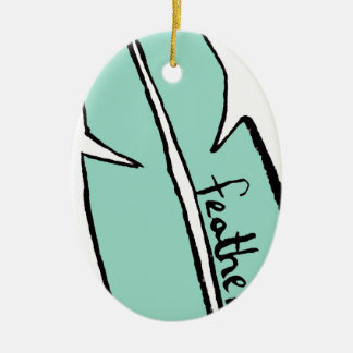 feather green christmas ornament