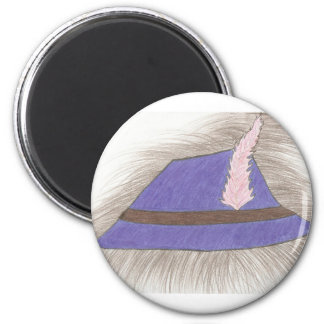 Feather Hat 6 Cm Round Magnet