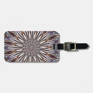 Feather Kaleidoscope Luggage Tag