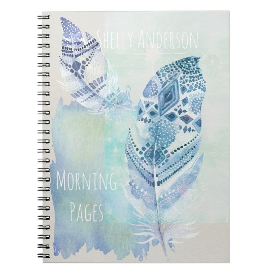 Feather Light Morning Pages Spiral Notebook