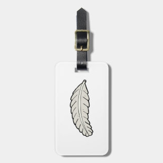 Feather Luggage Tags