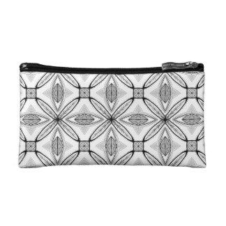 Feather Mandala Design with Transparent Background Makeup Bags