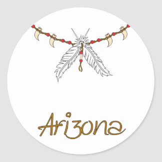 Feather Necklace Classic Round Sticker