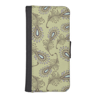 Feather Pattern iPhone SE/5/5s Wallet Case