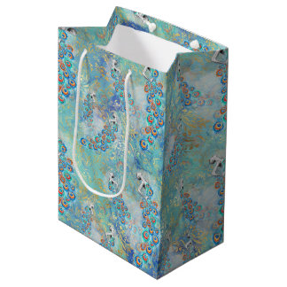 Feather peacock medium gift bag