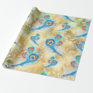 Feather peacock wrapping paper
