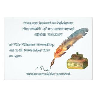Feather Pen Announcement 13 Cm X 18 Cm Invitation Card