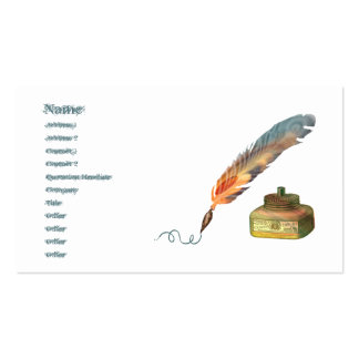 Feather Pen Pack Of Standard Business Cards