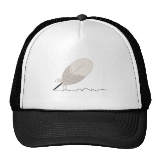 Feather Quill Mesh Hats